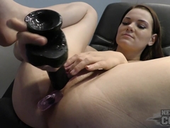 Huge Black Dildo Almost Tearing Sexy Beckys Pussy With Anal And Dp - NebraskaCoeds