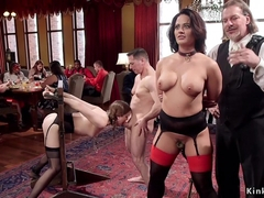 Busty Milf trained young maid fucking