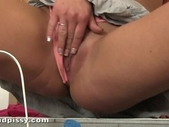Horny Candy fucks her tunnel of love with a blue dildo