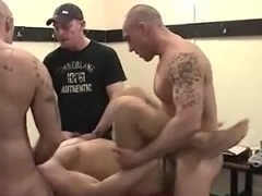 Well-endowed hunks in kinky gay anal action