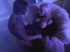 Fabulous pornstars Stacy Valentine and Gwen Summers in exotic group sex, big tits adult video
