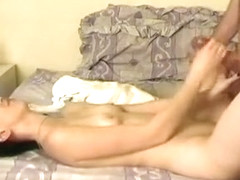 Guy fuck best friends slutty brunette and shoots big load of cum over her