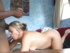 Fabulous private interracial, cuckold, cowgirl sex video