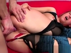 Sporty Blond Fucked Bareback In Ripped Panties