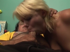 Horny pornstar in crazy facial, old and young porn clip