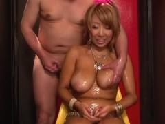 Chika Kitano hot blonde Asian milf gets big tits fucked