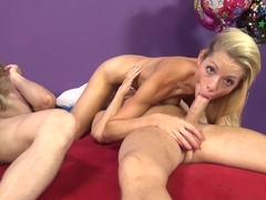 Incredible pornstars Katie Lewis, Cherry Morgan, Scott Lyons in Amazing Big Tits, Threesomes porn movie