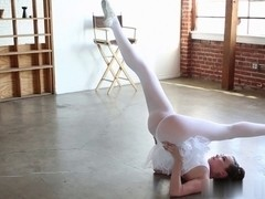 Sexy teen ballerina gets crammed hard