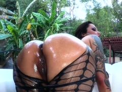 Oiled up sweetie Nikita Denisa looks amazing