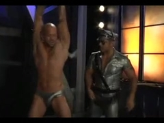 Perverted twink in kinky gay BDSM game