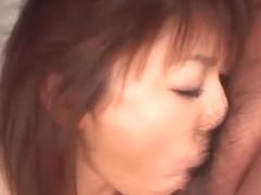 Mao Saito Screams While Sucking On A Fat Dick