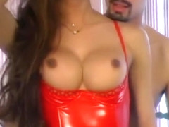 Fabulous homemade shemale clip with Stockings, Big Tits scenes