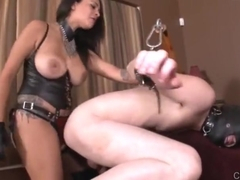 Cruel Mistress destroy slave ass hard