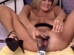Way-Out Samantha sex toy insertion vagina play two