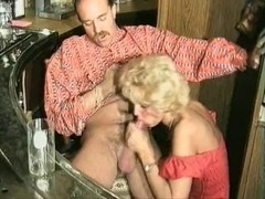 Lustful mature granny sucks and fucks a younger cock