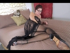 Stepmom In Lingerie And Stockings