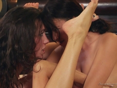 Three lez hotties in kinky Sapphic love fun