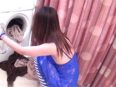 LadyboyGold Movie: Laundry Ladyboy Creampie