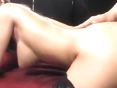 Silicone Asian woman: moving like crazy