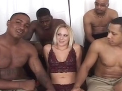 Horny White Slut Erin Moore Filled with Black Meat