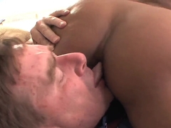 Hot ass ebony Bella Moretti pleasures mature fucker