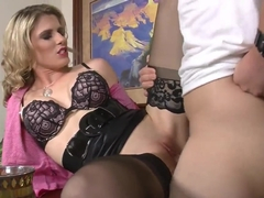 Angry dad J Pipes punishes his son's teacher with a hard banging