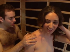 Young slut Angelica Saige plays with horny dude