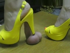 sexy feet ball trample
