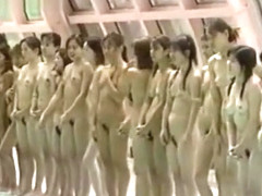 japanese naked girls swimming game show