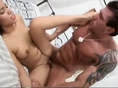 Precious Latina with a spicy ass has a muscled guy hammering her peach