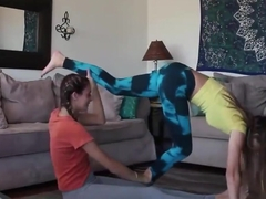 junior amateur girls in softcore yoga action 7