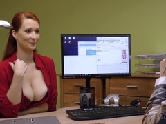 LOAN4K. Sex for cash is the best business strategy of buxom redhead
