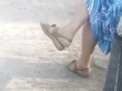hot flats dangling and shoeplay by young blonde girl part 1