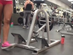 Hot milf at the gym in spandex part 2