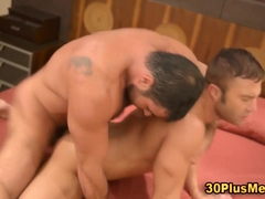 Muscular bear cums while riding