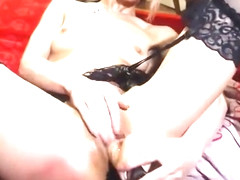 Fuck pussy and anal plug