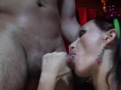 Reverse Gangbang Action With Seductive Sluts