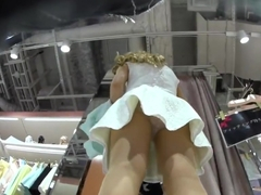 shopping mall  Japanese pantyhose upskirt