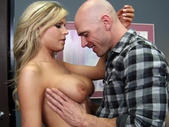 Pretty blond nurce Darcy Tyler helps Johnny in his plans