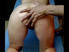 Erotic hot anal and pussy massage
