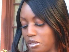 Fabulous pornstar Jada Fire in crazy black and ebony, outdoor sex clip