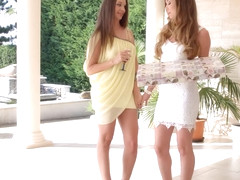 Check my dress by Sapphic Erotica lesbian love porn with Capri Anderson Angelina Brill