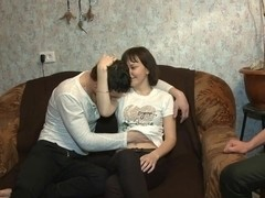 Explicit cuckold pleasuring