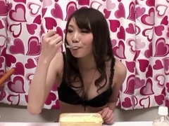 Japanese Belly Stuffer Gets Fucked