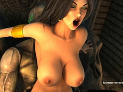 Space meets Vampires - Vampirella gets mad crazy over this sexy slimey cock