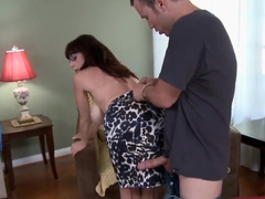 Mature hot teacher Karen Kougar fucking the horny dude Tim Cannon