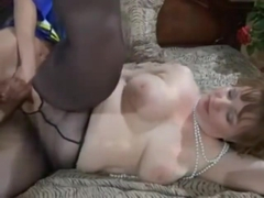 Son Fucks Mom In Crotchless Pantyhose