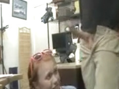 Dolly Little pawn shop backroom blowjob