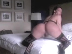Amazing homemade shemale video with Stockings, Solo scenes