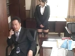 Horny Japanese whore Shion Amane in Amazing Blowjob, Office JAV movie